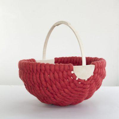 Cesta contemporánea de lana idoia cuesta
