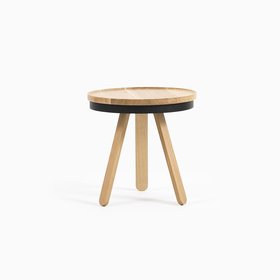 Mesa auxiliar con bandeja woodendot