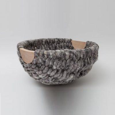 Cesta de lana artesanal Idoia Cuesta