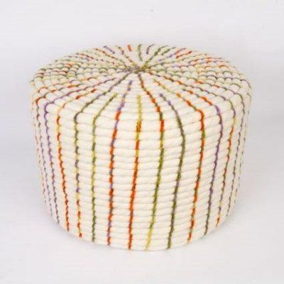 Puff de lana artesanal idoia cuesta