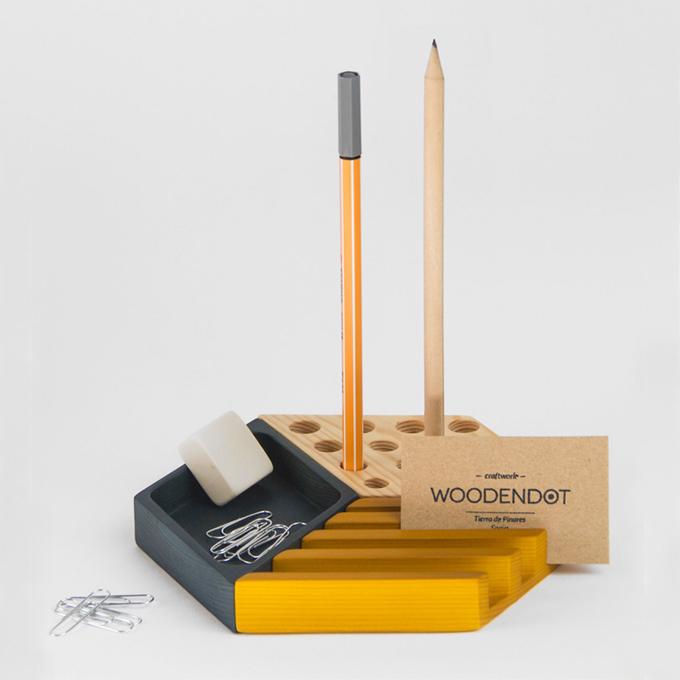 organizador de escritorio kesito de madera de pino woodendot coolmaison