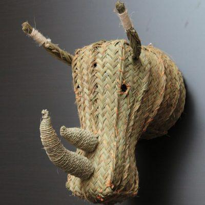 Rinoceronte de esparto. Artesania de España